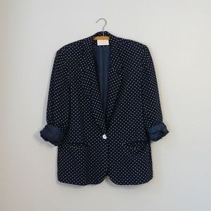 vintage pendleton polka dot jacket 90s long blazer
